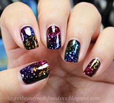 37 Black Glitter #Nails Designs That You Can Make #designer#fashiongirl