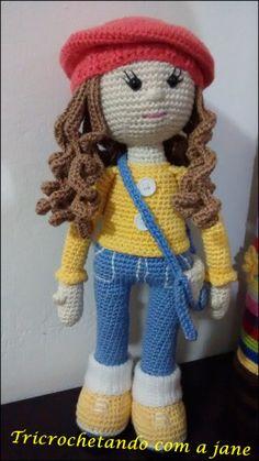 Bildergebnis für Puppen im Amigurumi-Rezept - Amigurimi - Amigurumi Hints Crochet Dolls Free Patterns, Crochet Doll Pattern, Amigurumi Patterns, Doll Patterns, Crochet Crafts, Crochet Projects, Amigurumi For Beginners, Crochet Disney, Knitted Dolls
