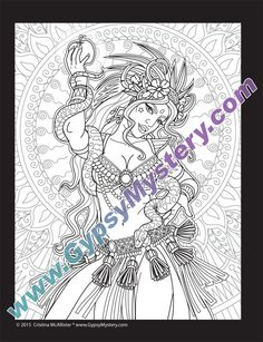 single coloring page temptation from the magical beauties - Coloring Pages For Paint Program