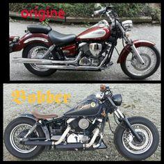 Dragstar 125 custom bobber
