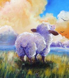 BESIDE STILL WATERS signed beautiful Sheep Incognito Print by SheepIncognito on Etsy