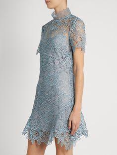 Peep-back floral-lace mini dress   Self-portrait   MATCHESFASHION.COM US