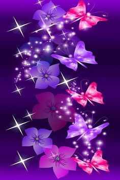 Purple Butterfly Wallpaper | Pink and Purple butterflies | Wallpaper Backgrounds for Smartphones!!!