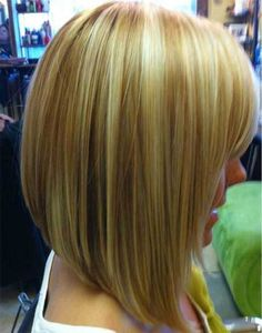 Inverted Lob Haircut for blond hair