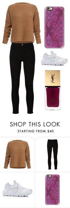 """""""Sans titre #4360"""" by merveille67120 ❤ liked on Polyvore featuring Dagmar, Frame, NIKE, Casetify and Yves Saint Laurent"""