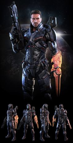 Mass Effect N7 Soldier ( fan art ) by 3dsquid 1159px X 2260px- awesome!