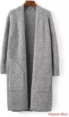 Пальто оверсайз связано из мериноса экстрафайн, 800 гр. на вязальной машине Бразер 930 / 850.