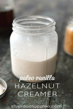 Make your own healthy version of coffee creamer with Paleo Vanilla Hazelnut Creamer...and homemade cold-brew coffee to go along with it! | StupidEasyPaleo.com