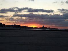 Sunset on the Beach in Nieuwpoort #Belgium #beach #sunset