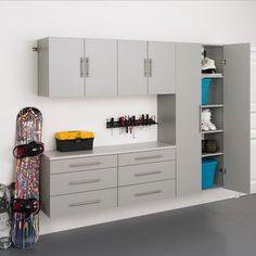 Stone Grey Storage 5-piece Cabinet Set H | Overstock™ Shopping - Great Deals on Prepac Garage Storage