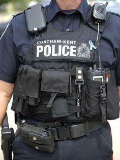 Officers from the Chatham Kent Police Service, from