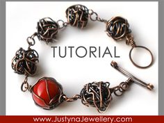 Wire Bracelet Tutorial, Bangle Tutorial, Wire Knot Tutorial, Caged Bead Tutorial, Toggle Clasp Tutorial, Wire Wrapping Jewelry Tutorial. $4.99, via Etsy.