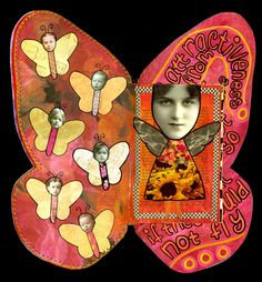 """""""Flight"""" - altered book, collage, mixed media"""
