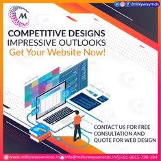 Web Development Competitive Designs Impressive Outlooks Get your website now! Contact us for free consultation & Quote for web design Call ☎️ at : +91-9015-799-394 For more information about service visit our site right now- . . #development #websitedevelopment #webdevelopment #website #websitedesign #webdesign #developer #designing #technology #ecommerce #creative #design #software #softwaredevelopment #startup #business #digitalmarketing #socialmedia Parallax Website, Creative Design, Web Design, Software Development, Ecommerce, Digital Marketing, Quote, Social Media, Technology
