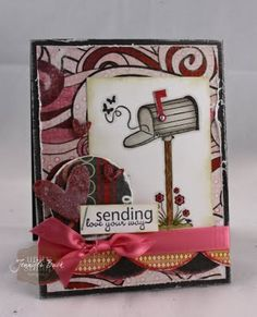 unity stamp company. kit used - Sending My Love - card created by unity design team member Jen Buck.