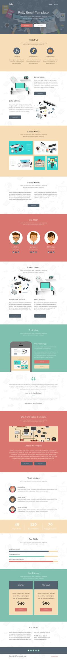 Atellar - Responsive Email + StampReady Builder Responsive email - responsive email template