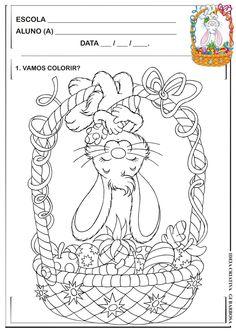 Atividade Páscoa Comercial para Colorir