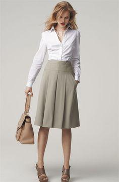 Elie Tahari Shirt & Skirt....business outfit