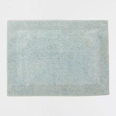 tapis de bain rversible vert deau avec cadre tapis vert deau - Tapis Vert D Eau