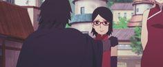 Sasuke and Sarada Uchiha Himawari Boruto, Sasuke Uchiha Sharingan, Naruto Sasuke Sakura, Naruto Shippuden Anime, Sakura Haruno, Shikadai, Naruto Gif, Boruto Naruto Next Generations, Gifs