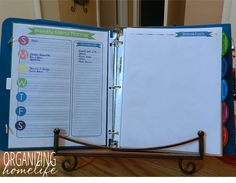 Weekly Meal Planning in a Recipe Binder-  This is the BEST thing I've done to plan, save money, and stress less about dinner for my family (I did something similar to this binder).