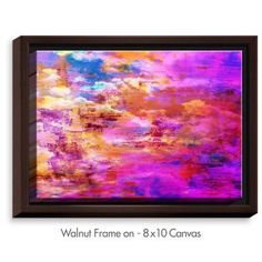 DiaNocheDesigns 'Off The Grid V' by Julia Di Sano Painting Print on Wrapped Framed Canvas