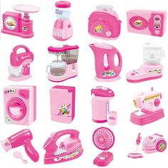 Mini Home Appliances Pretend Play Toys Kids Play House Kitchen Toys Set Educational toys for Children Enlighten 16pcs