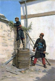 French officers, Franco-Prussian War