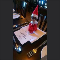 Lurking on a menu. What's that elf up to? #rancheyyc #elfontheshelf