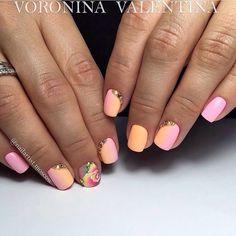 Beautiful nails 2017 Evening nails flower nail art Mysterious nails Nails shellac gradient Nails with rhinestones Obmre nails Original nails Bright Nails, Gradient Nails, Pink Nails, Two Color Nails, Nail Polish Colors, Nail Art Design Gallery, Best Nail Art Designs, Fabulous Nails, Perfect Nails