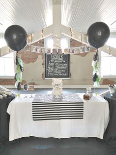 Groover's One Year Black & White Loft Style 1st Birthday Party!