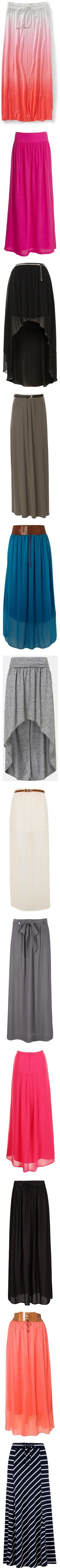 """Maxi skirts!"" by sinnersss on Polyvore"