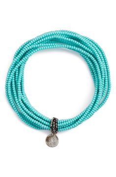 Chan Luu Patterned Seed Bead Stretch Bracelet available at ...