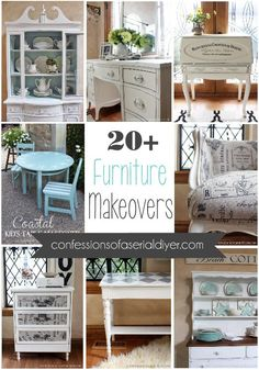 Are you in the mood for some awesome furniture makeovers? I've collected over 20 of my thriftiest furniture makeovers all in one place! I love being able to take something that is beat up or dated and