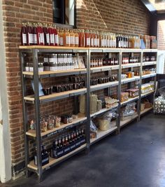 Wine and spirits store, store shelving, bulk store, herb shop, shop counter Coffee Shop Design, Cafe Design, Mini Mercado, Wine And Spirits Store, Cave Bar, Container Shop, Pharmacy Design, Rustic Cafe, Concept Shop