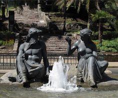 Fountain at the Base of Cerro Santa Lucia