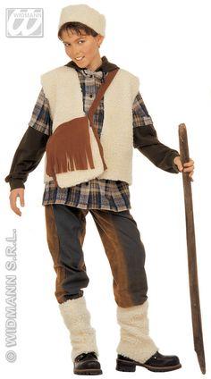 Disfraz de Pastorcito Incluye: Chaleco, zurron, calentadores y sombrero Composición: Tejido de borreguillo