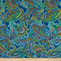 Winterfleece Radiant Paisley Teal from @fabricdotcom  From Windham Fabrics, this double-sided, anti-pill fleece fabric is warm and cozy and has ultra soft hand. It is perfect for throws, blankets, jackets, hats, mittens, scarves, slippers, pillows, vests, pullovers and much more!