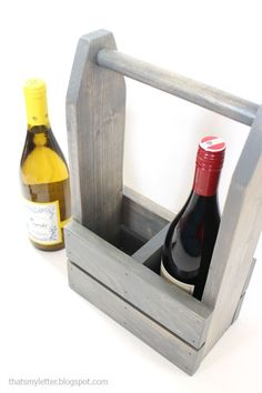 DIY wine carrier with free plans. So cute. Looks like a tool box I pinned!