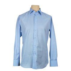 Camicia uomo classica - Celeste - €33,20. #hallofbrands #hob #camicia #shirt