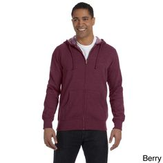 Men's Organic / Recycled Heathe Full-Zip 7-ounce Hood