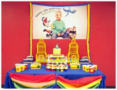 Art Rio themed birthday party ideas and inspiration birthday-party-ideas Rio Birthday Parties, Bird Theme Parties, Birthday Themes For Boys, Birthday Fun, Birthday Ideas, Rio Party, Tropical Party, Party Items, Bird Cages