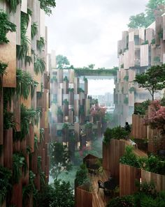 World Architecture Community News - Kengo Kuma unveils design for Eco-Luxury Hotel comprised of wooden and plant covered facade Kengo Kuma, A As Architecture, Futuristic Architecture, Sustainable Architecture, Paris Hotels, Architecture Organique, Green Facade, Green Roofs, Eco City