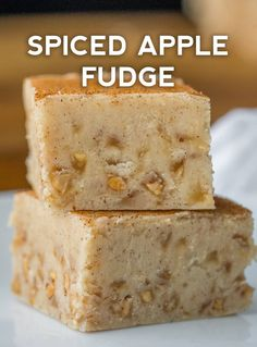 Spiced apple cider fudge in 2020 Fudge Recipes, Candy Recipes, Sweet Recipes, Cookie Recipes, Dessert Recipes, Fall Desserts, Christmas Desserts, Delicious Desserts, Yummy Food