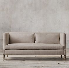 RH's St. George Shelter Arm Upholstered Sofa:Modeled after the elegant designs of late Victorian England, our high-back shelter sofa proffers…