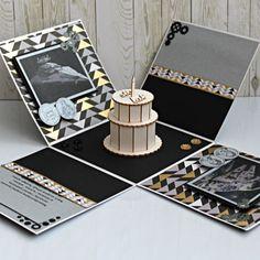 """Exploding box - pudełko """"eksplodujące"""" - ręcznie wykonane życzenia na 40 urodziny. Turntable, Music Instruments, Record Player, Musical Instruments"""
