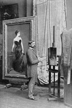 Art Inspiration: John Singer Sargent in his studio in Paris