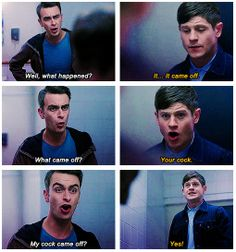 Rudy & Simon // Misfits I'm sorry.. I couldn't help it. One of the funniest episodes ever