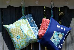 wet bathing suit bag tutorial.  Now that is smart!