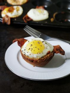 Bacon, Egg and Toast Cups made in a muffin tin! So cute!